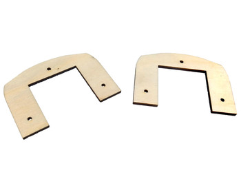 "2pc. Cigar Box Guitar Extended Neck Collars  - 1/8"" Arctic Birch Ply - Undecorated"