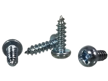 "100pc. #4 x 3/8"" Zinc-plated Phillips Round-Head Screws"