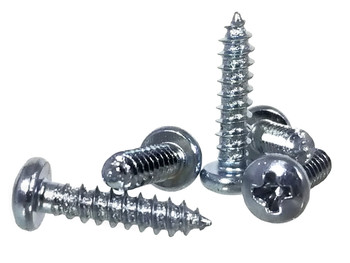 "100pc. #4 x 1/2"" Zinc-plated Phillips Round-Head Screws"