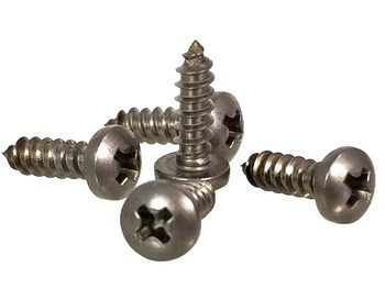 "100pc. #4 x 3/8"" Stainless Steel Phillips Round-Head Screw"