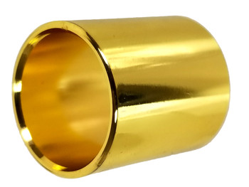 "1 1/8"" (28.575 mm) Shiny Brass-plated Stubby Guitar Slide"