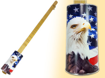 """Stars & Stripes"" One-String Acoustic Canjo by The American Canjo Company"