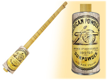 """Gunpowder Mill"" One-String Acoustic Canjo - Features Civil War-era Artwork"