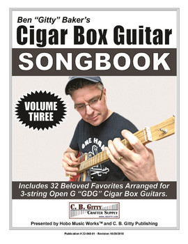 Ben Gitty's 3-string Cigar Box Guitar Songbook - Volume 3 - 32 more beloved songs (E-Book Download Version)