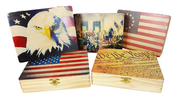 "Custom-Printed 8""  x 10"" Wooden Cigar Box - Vivid, photo-quality printing right on the box using YOUR images!"