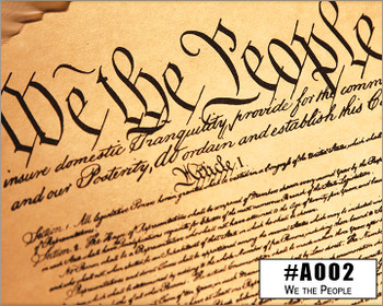 """We the People"" Illustrated Wooden Cigar Box - image printed in full color right on the box top!"