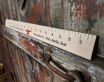 """Shady Grove Blacksmith"" - Yardstick-style Hard Maple Illustrated Cigar Box Guitar Fretboard"