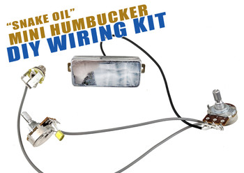 """Snake Oil"" Mini Humbucker DIY Pickup Harness Wiring Kit - choose your color!"