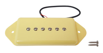 "Ivory ""Dog Ear"" Soapbar 6-string Pickup"