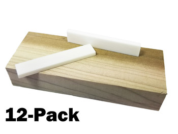 12pc. Bone Saddle Blanks  for Cigar Box Guitars & More!