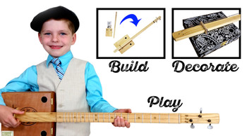 "The ""Big Easy"" 1-Hour Cigar Box Guitar Kit"