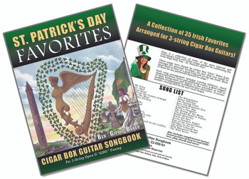 St. Patrick's Day Favorites - 136-page Irish Songbook for Cigar Box Guitar - 35 songs!