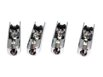 4pc. Chrome Adjustable Indie Bass Guitar Bridges