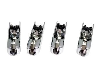 4pc. Chrome Adjustable Indie Bass Guitar Bridges