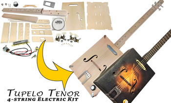 "The ""Tupelo Tenor"" Electric Box Guitar Kit  - Choose 3 or 4-string"