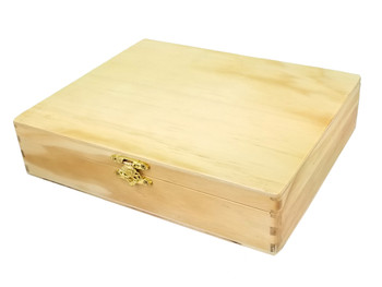 "8"" x 10"" Solid Wood Lacquered Cigar Boxes - Perfect for Guitars and more!"