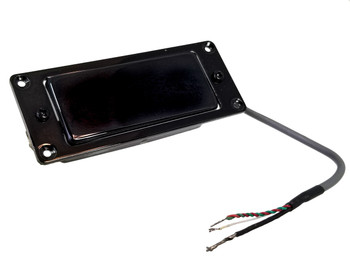 Black Mini Humbucker Assembly with Mounting Ring - Easy to Install!