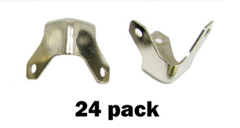 24pc. Small Nickel Trunk Corners with Screws