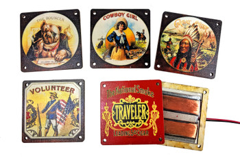 Cigar Art GittyBucker Flat-Mount Pickups - featuring Beautiful Vintage Designs