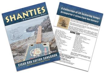 Shanties & Sea Songs Cigar Box Guitar Songbook - 38 Classic Songs in Tablature for 3-string GDG