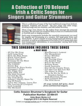 Celtic Session Songbook for Guitar - Back Cover