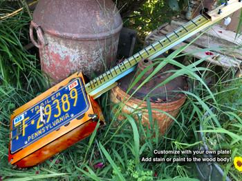 "The ""Reso-Plate"" 3-string License Plate Resonator Guitar Kit"
