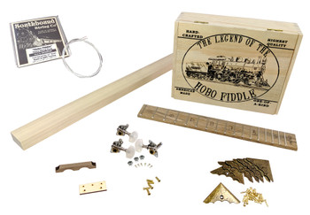 Hobo Fiddle DIY Kit by Ben Gitty Baker - kit contents.