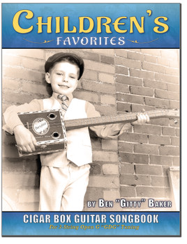 Children's Favorites 3-string Cigar Box Guitar Songbook - includes 79 classic kids' songs