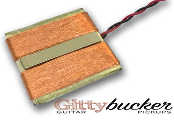 GEN2 GittyBucker Flat-Mount Cigar Box Guitar Humbucker - Made in the USA!