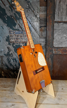 Portable DIY Cigar Box Guitar Stand Kit - easily build a folding CBG stand using just a screwdriver!