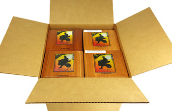 "12 Pc. EMPTY All-wood Acid ""Kuba"" Cigar Boxes - Great for amps, crafts and more!"
