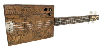 """Jungle Band"" Master Series Hobo Fiddle Ukulele (#10) by Ben Gitty"