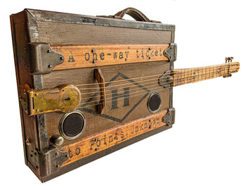"The One-Way Ticket - a unique heirloom guitar hand-crafted by Ben ""Gitty"" Baker"