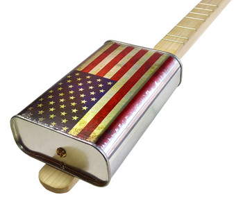 "Spirits Canjo Series: ""American Pride"" One-string Tin Can Banjo"