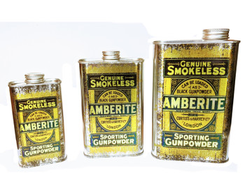 Amberlite Smokeless Gunpowder Can - Choose Size - Great for Canjos, Resonators & More!
