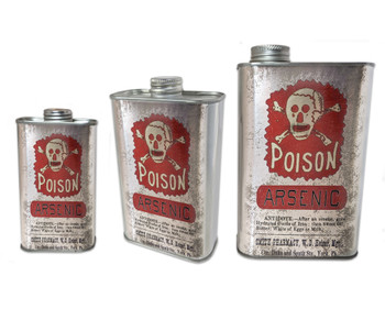 Arsenic Poison Apothecary Can - Choose Size - Great for Canjos, Resonators & More!