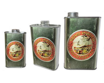 Hazard Smokeless Gunpowder Can - Choose Size - Great for Canjos, Resonators & More!