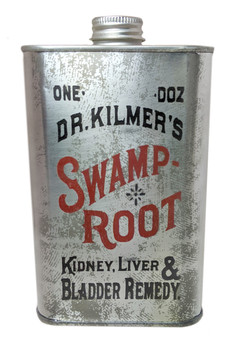Swamp Root Patent Medicine Can - Choose Size - Great for Canjos, Resonators & More!