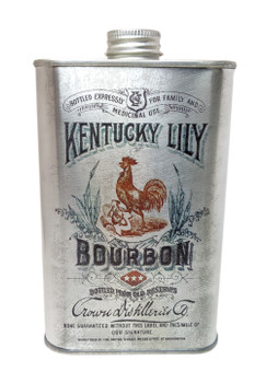 Kentucky Lily Bourbon Whiskey Can - Choose Size - Great for Canjos, Resonators & More!