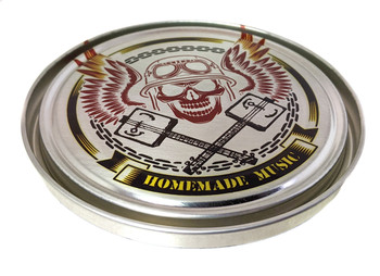 Homemade Music Illustrated 5-inch Paint Can Lid - Cigar Box Guitar Resonator