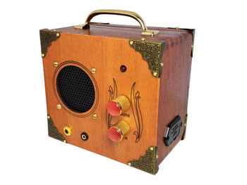"The ""Mini Driver"" Dual-Speaker, Dual-Input Cigar Box Amplifier - for Guitar and MP3/Smartphones"