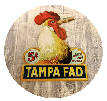 """Tampa Fad"" ResoDisk Box Topper for Cigar Box Guitars"