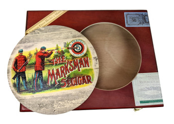 """The Marksman"" ResoDisk Box Topper for Cigar Box Guitars"