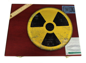 """""""Weathered Fallout"""" ResoDisk Box Topper for Cigar Box Guitars"""