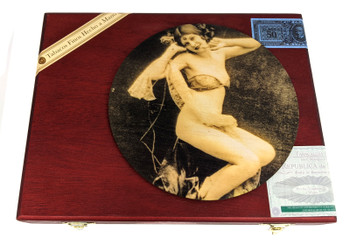 """Vintage Vixen"" ResoDisk Box Topper for Cigar Box Guitars"