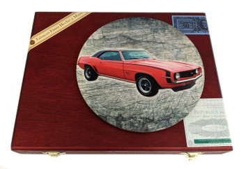 """""""Classic Muscle"""" ResoDisk Box Topper for Cigar Box Guitars"""