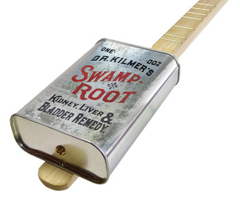 "Spirits Canjo Series: ""Dr. Kilmer's Swamp Root"" One-string Tin Can Banjo"