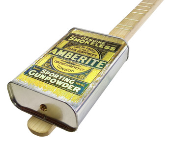 "Spirits Canjo Series: ""Amberlite Gunpowder"" One-string Tin Can Banjo"