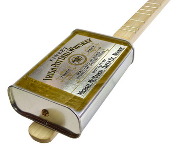 "Spirits Canjo Series: ""Irish Whiskey"" One-string Tin Can Banjo"