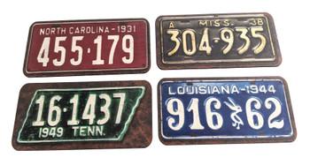 4pc. Southern Music Mini License Plate Pickguard Set